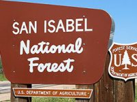 Sign for San Isabel National Forest