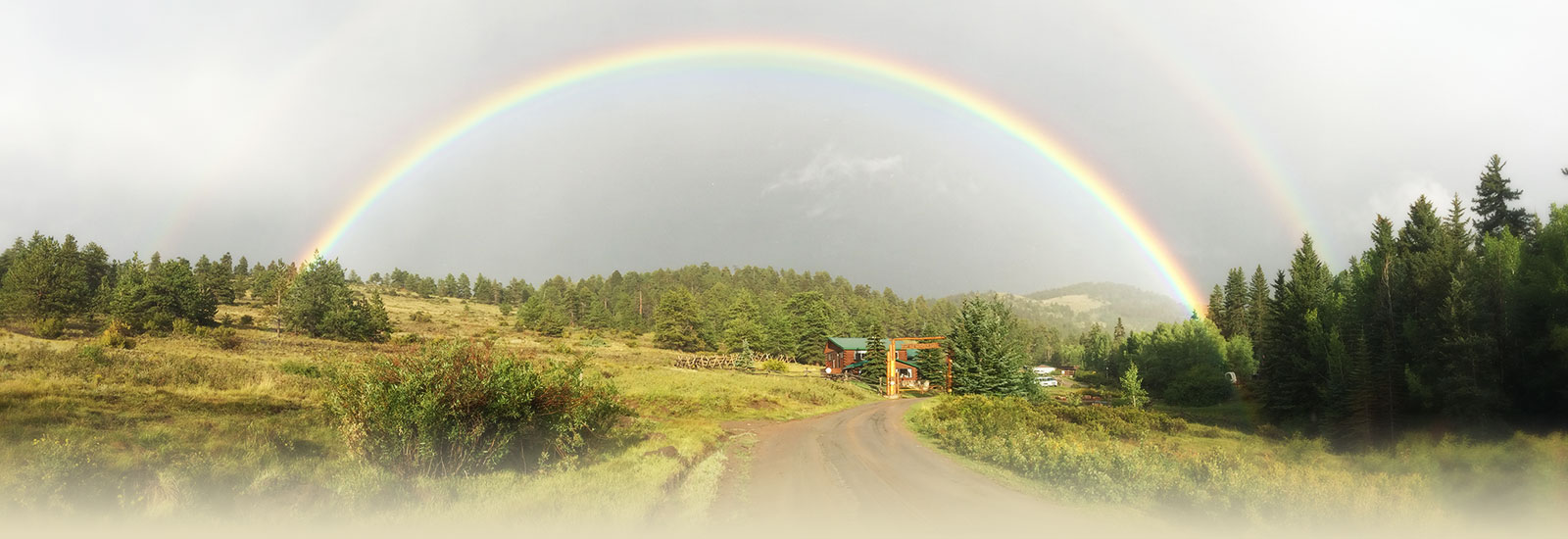 Elk Mountain Ranch rainbow