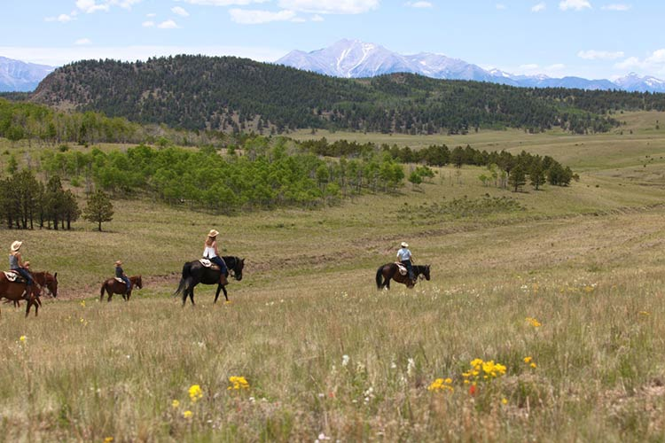 horseback riding vacation riders